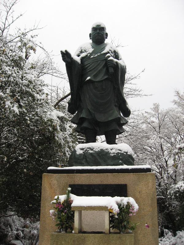 玉澤妙法華寺の冬